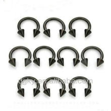 Surgical Steel plated horseshoes nose stud wholesale nose jewelry