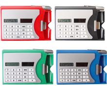 Многофункциональный Пластиковые имя карты коробка с калькулятор шариковая ручка карманный Солнечный