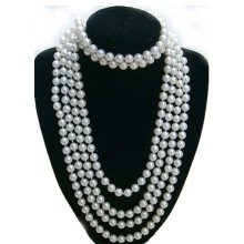 Multi Strand White Pearl Necklace untuk Bridesmaid