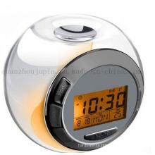 OEM Logo Creative Digital Desk Alarm Clock with Thermometer