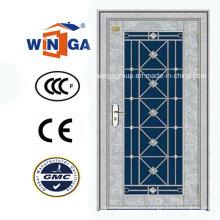 Suráfrica Puerta de cristal del metal de la seguridad del acero inoxidable (W-GH-24)