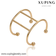 51676 Excellent quality simple shape Dubai gold plated wholesale China handmade beads cuff bangle jewelry