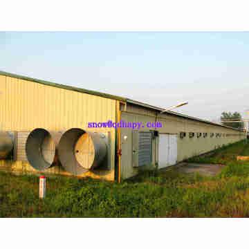 Automatische Geflügel-Bauernhof-Ausrüstung mit modernem Entwurfs-Stahlrahmen-Struktur-Haus für One-Stop