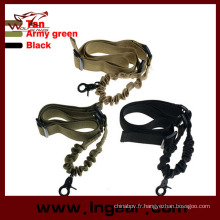 Tactical Gun Sling unique Point Bungee fusil Airsoft corde Sling
