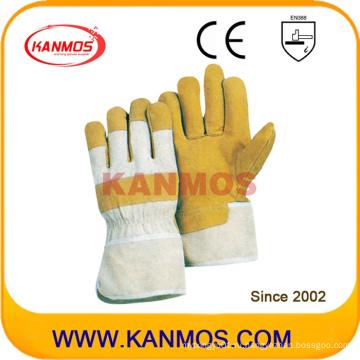 Желтая свинья Сплит кожа промышленной безопасности рабочих перчаток (21003)