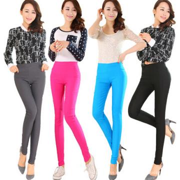 Moda de las mujeres de color de algodón Legging Skinny (SR8209)
