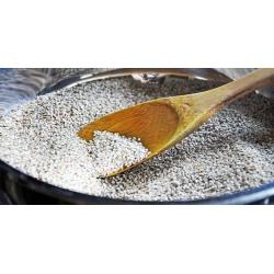baked peeling white natural sesame seeds