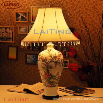 Chinese bedside table ceramic lamp and desk lamp
