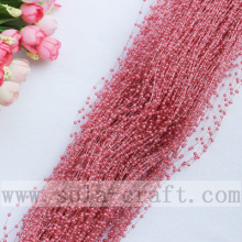 Red Bean Paste Color Wire String Beaded Garland Of The Artificial Faux Pearl