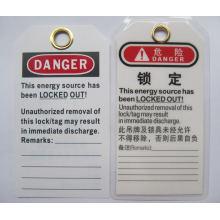 "BOSHI PVC Etiqueta BD-P02 Etiqueta de bloqueo con señales de advertencia ""NO OPERAR"""