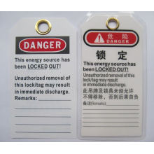 """BOSHI PVC Tag BD-P02 Lockout Label with Warning Signs """"DO NOT OPERATE"""""""