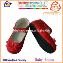 2014 New Arrival stylish school flat kids glitter shoes