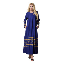 mode AZTEC Woven Kleid Frauen Nahen Osten neue modell abaya in dubai abaya 2017