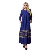 Moda AZTEC Tecido Vestido Mulheres Oriente Médio novo modelo abaya em dubai abaya 2017
