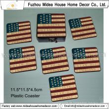 Billige benutzerdefinierte Form Blank Cork Plastic Coaster