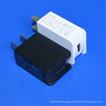 UL Listed Wall Charger Us Type Power Adapter 5V1a