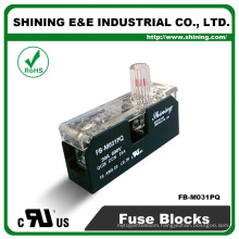 FB-M031PQ Panel and Din Rail Mounted 30A 1 Way Fuse Terminal Block