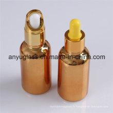 Bouteille de bouteille d'huile essentielle de couleur électrolytique Bouteille de bouteille 15ml, 30ml