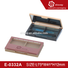 2016 new design private label professional empty rectangle wholesale eyeshadow palette case