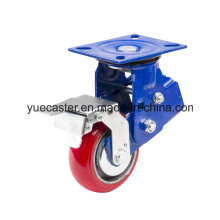 PU Casting Iron K6 Shock Absorption Heavy Duty Caster Brake
