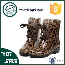 женские дешевые резиновые сапоги женщин плоские ботинки дождя