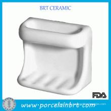 Wandmontierte weiße Fliese Dusche Seifenschale
