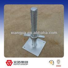 Vérin d'étayage galvanisé / base de vérin réglable pour échafaudage