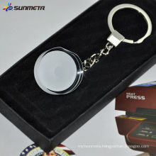 Sunemta Fashion sublimation crystal keychain crystal glass keychain