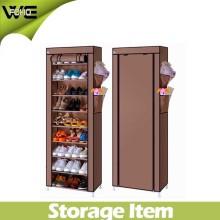 Cabinet imperméable portatif moderne d'organisateur de stockage de chaussure de tissu