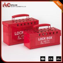 Elecpopular Safety Industrial Handy Plastic Combination Padlock e Key Lock Lockout Kit Box com alça
