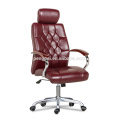 Red high back office chair with five wheels 05