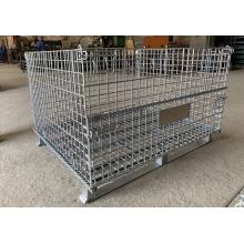 Cage de stockage en acier pliable en treillis métallique