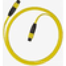 MPO singlemode cabo de remendo de fibra óptica simplex, MPO ftth g657a cabo de fibra óptica lszh