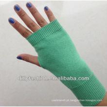 luvas de cashmere de malha de mulher / luvas de dedos curtos