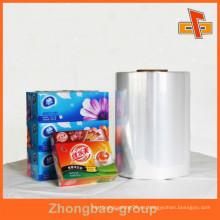 Película de embalaje suave del PVC para el paquete externo, embalaje externo Hecho de la película del encogimiento del PVC