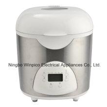 Panificadora eléctrica programable de 2 libras, blanco, negro o acero inoxidable