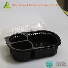 Envases desechables de plástico para cajas de almuerzo
