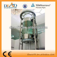 Panoramic hydraulic elevator