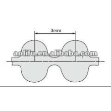 Rubber timing belt D3M