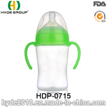 Botella de alimentación linda del bebé de los PP 300ml de la venta caliente (HDP-0715)