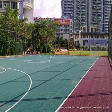 Piso de deportes que se enclavija profesional de los PP interior / al aire libre para la cancha de básquet