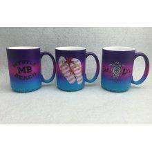 Spray Color Ceramic Mug, Rainbow Color Ceramic Mug