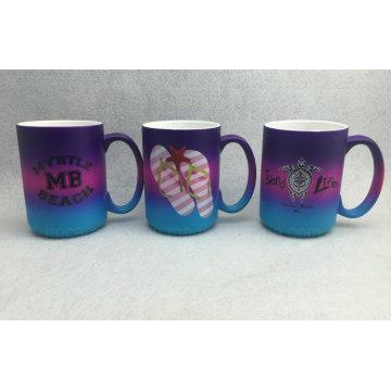 Tasse en céramique couleur vaporisateur, tasse en céramique couleur arc-en-ciel