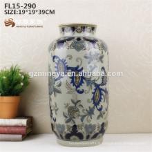 L'usine de gros fournit la fleur de vase en céramique en porcelaine pour l'hôtel de maison