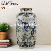 Wholesale factory supplies porcelain ceramic vase flower for home hotel
