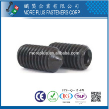 Feito em Taiwan Steel Copper Slotted Set Screw Com Taper Point DIN914