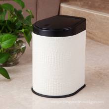 White Leather Press Dust Bin (H-3LB)