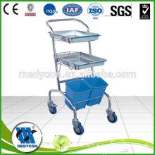 BDT207 Einfache Reinigung 304 Edelstahl Tablett medizinischen Trolley