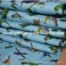 Tissu d'impression de textile de Digital fait sur commande de textile de la Chine pour le vêtement