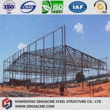 Structure en treillis d'acier pour atelier préfabriqué
